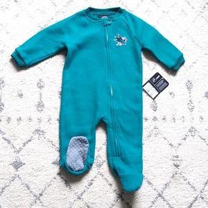 San Jose Sharks Fleece Baby Footie Pajama